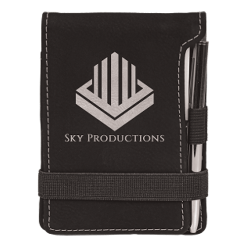 Leatherette Mini Pad with Pen - 15 Colors 11