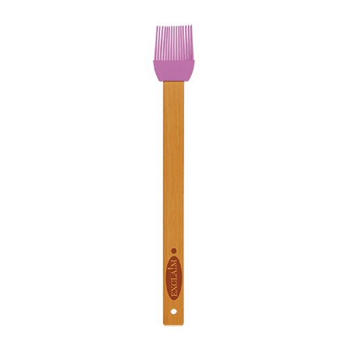 Silicone Baster Brush with Bamboo Handle - 6 Colors 1