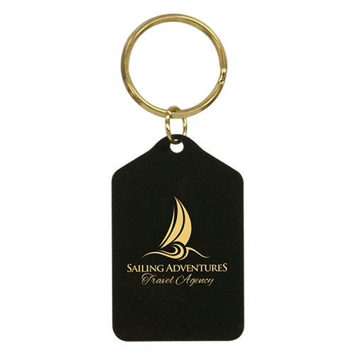 Black Brass Keychain - 3 Shapes 3
