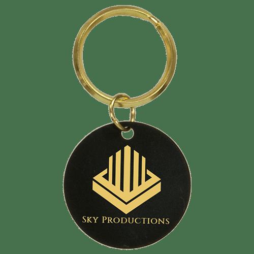 Black Brass Keychain - 3 Shapes 2