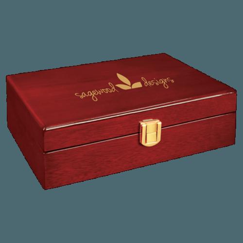 Rosewood Piano Finish Personalized Gift Box - 3 Sizes 1