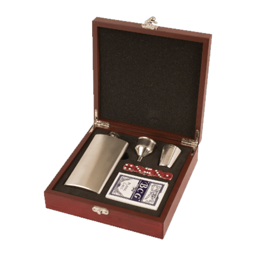 Rosewood Personalized Flask Set 1