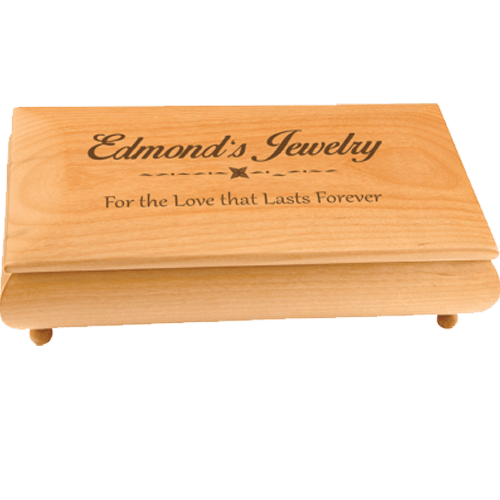Personalized Red Alder Gift Box - 2 Sizes 1