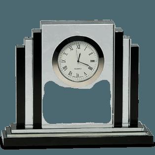 Crystal Clock with Black Crystal Trim 2