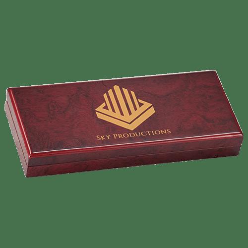 Personalized Rosewood Finish Long Gift Box 1