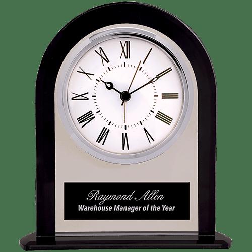 Glass Clock with Black Border 1