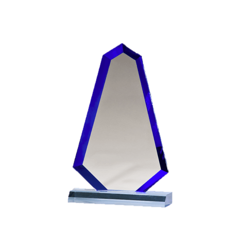 Flame Series Blue Acrylic with Blue Accented Bevel - 3 Sizes 2