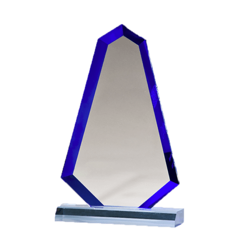 Flame Series Blue Acrylic with Blue Accented Bevel - 3 Sizes 3