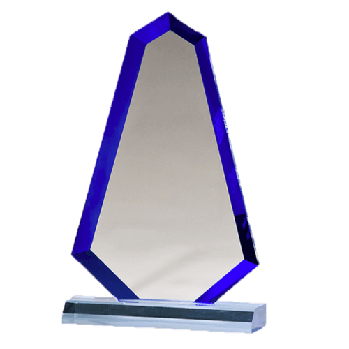 Flame Series Blue Acrylic with Blue Accented Bevel - 3 Sizes 4