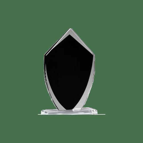 Black Shield Glass Award - 3 Sizes 3