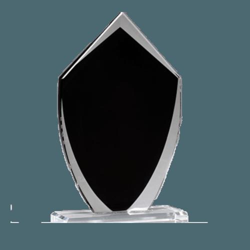 Black Shield Glass Award - 3 Sizes 4