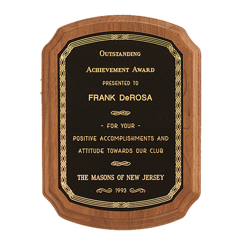 American Walnut Plaque with Braided Border - 5 Sizes 1