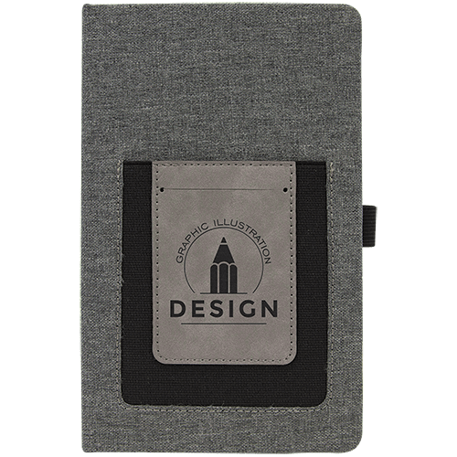 Journal with Leatherette Cell/Card Slot - 3 Colors 1
