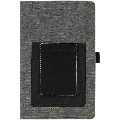 Journal with Leatherette Cell/Card Slot - 3 Colors 2