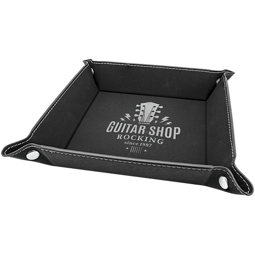 Leatherette Snap Up Tray - 5 Colors 2