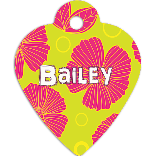 Personalized Full Color Heart Pet Tag - 2 Sizes 1