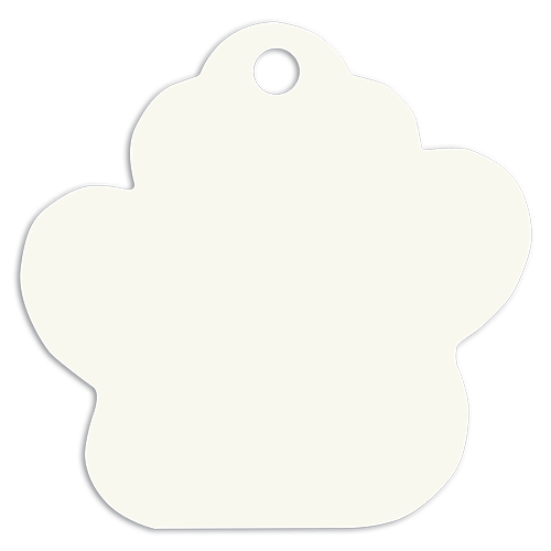 Personalized Full Color Paw Print Pet Tag - 2 Sizes 2