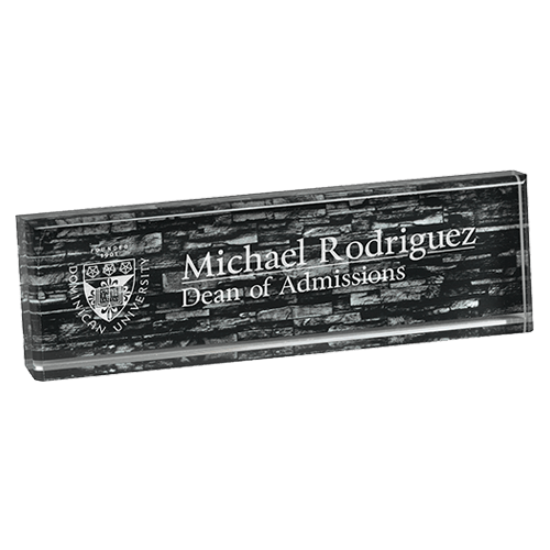 Stone Wall Acrylic Name Bar 1