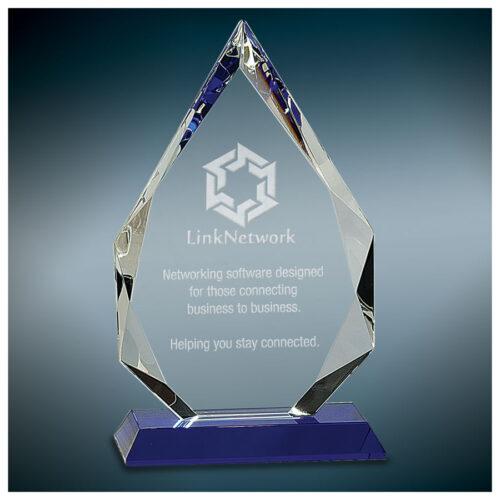 Diamond Crystal on Blue Pedestal Base 2