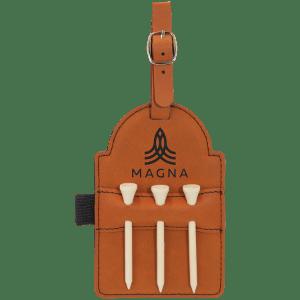 Leatherette Golf Bag Tag - 6 Colors 3