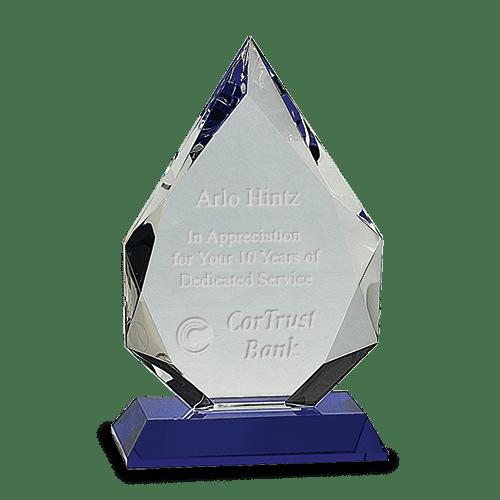 Diamond Crystal on Blue Pedestal Base 3