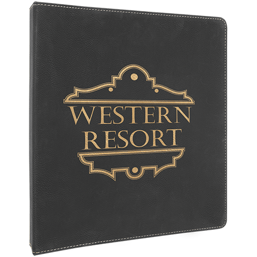Personalized Leatherette Binder - 6 Colors 3