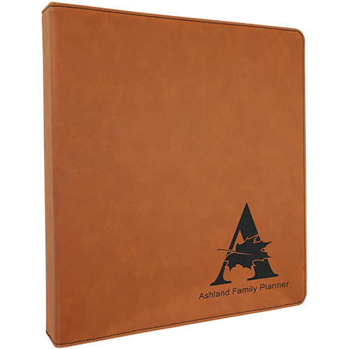 Personalized Leatherette Binder - 6 Colors 5