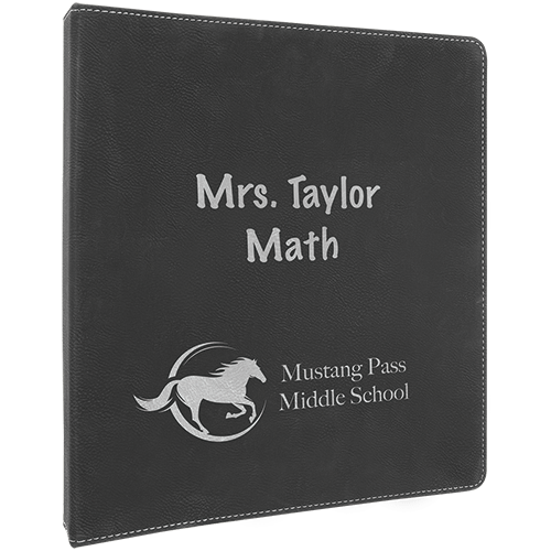 Personalized Leatherette Binder - 6 Colors 6