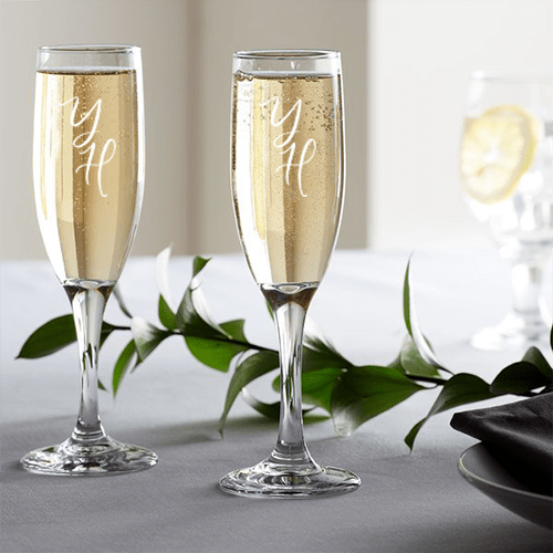 Engraved Flute Glass 2