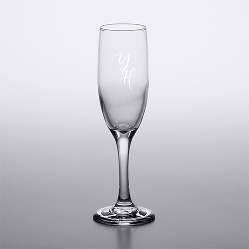 Engraved Flute Glass 1